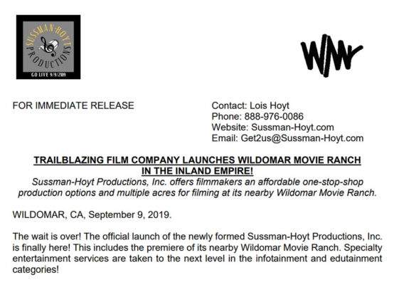 Initial Press Release